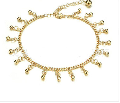 2018 New Cute Anklet Summer Beach Single Silver-plated Anklet Travel Essential Woman
