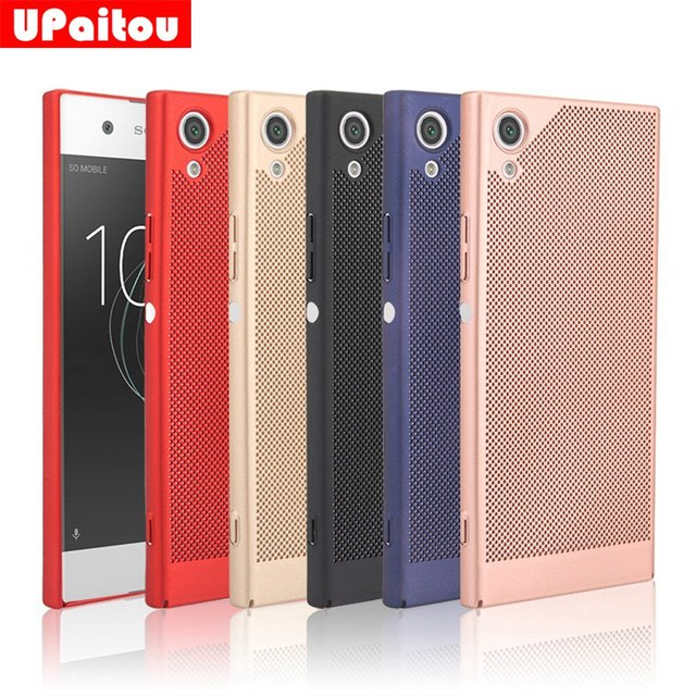 competitive price 86941 29d88 US $1.89 5% OFF|UPaitou Mesh Design Edged Cover Case for Sony Xperia XA1  Hard PC Case Back Cover for Sony XA1 Dual Sim G3112 G3116 G3121 Case-in ...