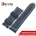 Special offer blue Strap For Panerai Really Leather 22MM 24MM  retro Strap Manual Comfortable Simple Men and Women Strap