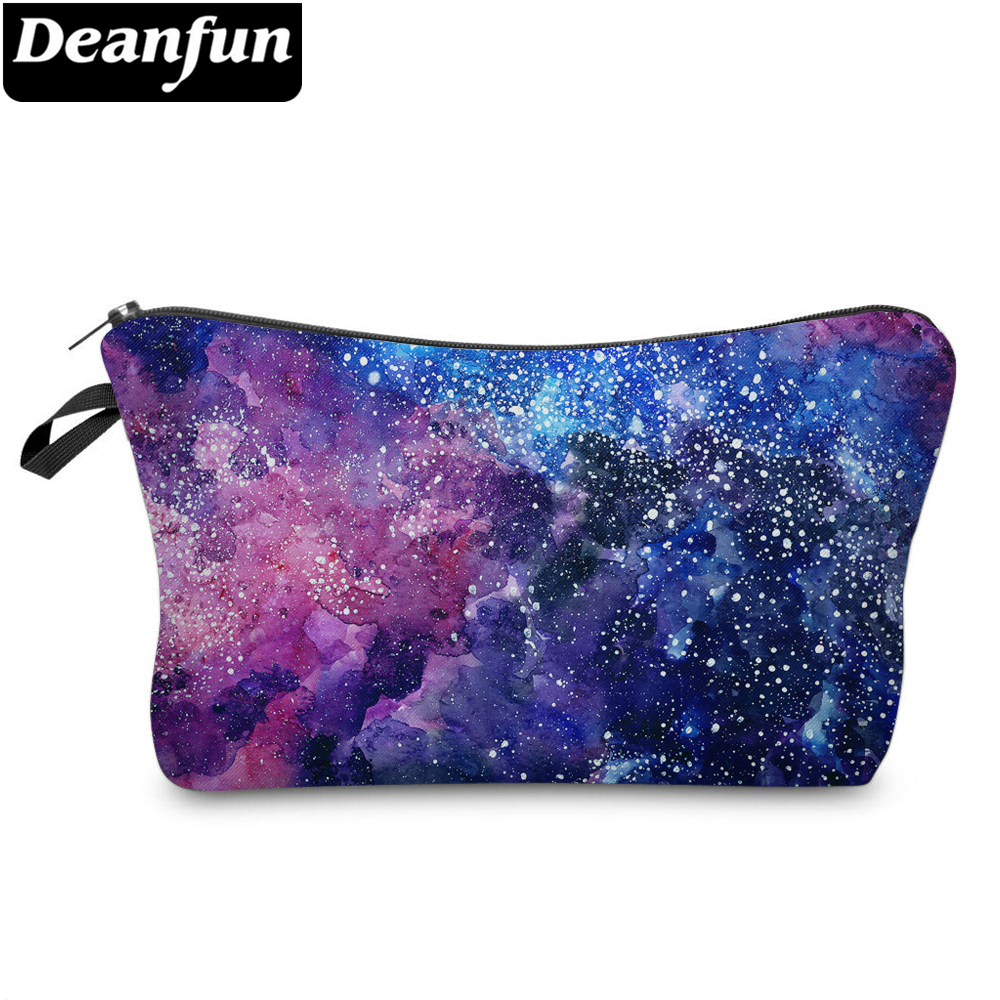 Deanfun 3D Printed Cosmetic Bags Starry Sky Pattern Fashion For Women Travel Organizer 51244