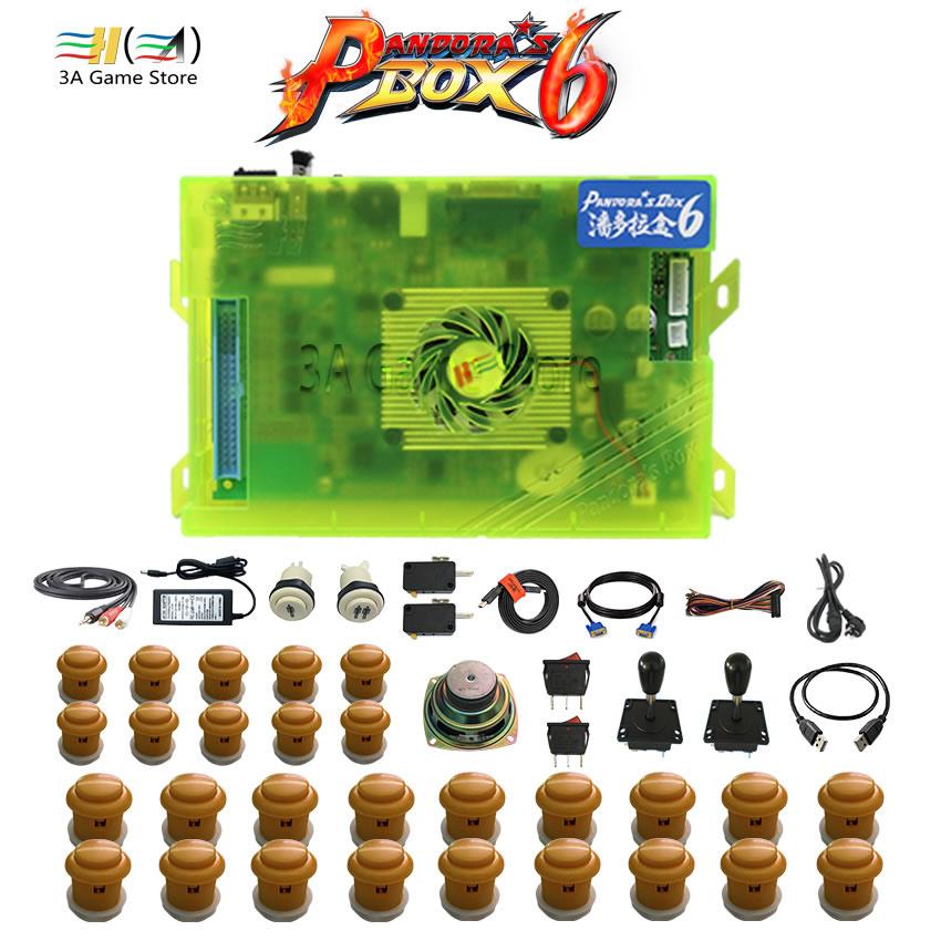 Pandora box 6 1300 games in 1 joystick arcade button kit diy arcade joystick parts buttons cabinet button switch arcada speaker jamma arcade game kits with pandora box 4 645 in 1 board power supply arcade joystick arcade buttons speaker to build up diy