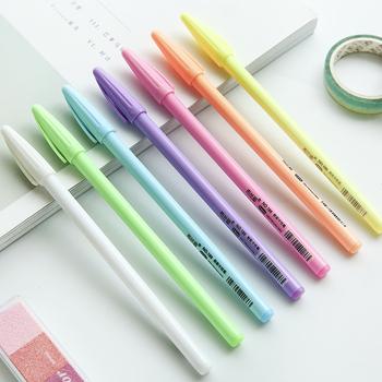 7 sztuk wysoki połysk proszek kolor pióro neutralne 0 8mm długopis pisanie długopisy dla Journal Album Home DIY artykuły szkolne do plastyki A6023 tanie i dobre opinie VALIOSOPA Długopis żelowy Żel atramentu Biuro i szkoła pen Normalne powder color pen Z tworzywa sztucznego