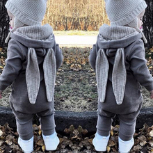 0-24M Autumn Newborn Baby Girls Boys Clothing Romper Cotton Long Sleeve Jumpsuit Playsuit Bunny Outfit One Piecer 3D Ear Clothes цена и фото