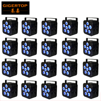 IRC Gigertop Preto Habitação Bateria Sem Fio Fase Luz Par Plana Levou 8800HA Li Bateria Recarregável DMX/Auto/Sound /Controle remoto|Efeito de Iluminação de palco| |  -