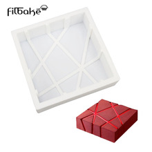 Sale FILBAKE Cube Square Shaped 3D Silicone Cake Molds Baking Chocolate Muffin Desserts DIY Cake Pan