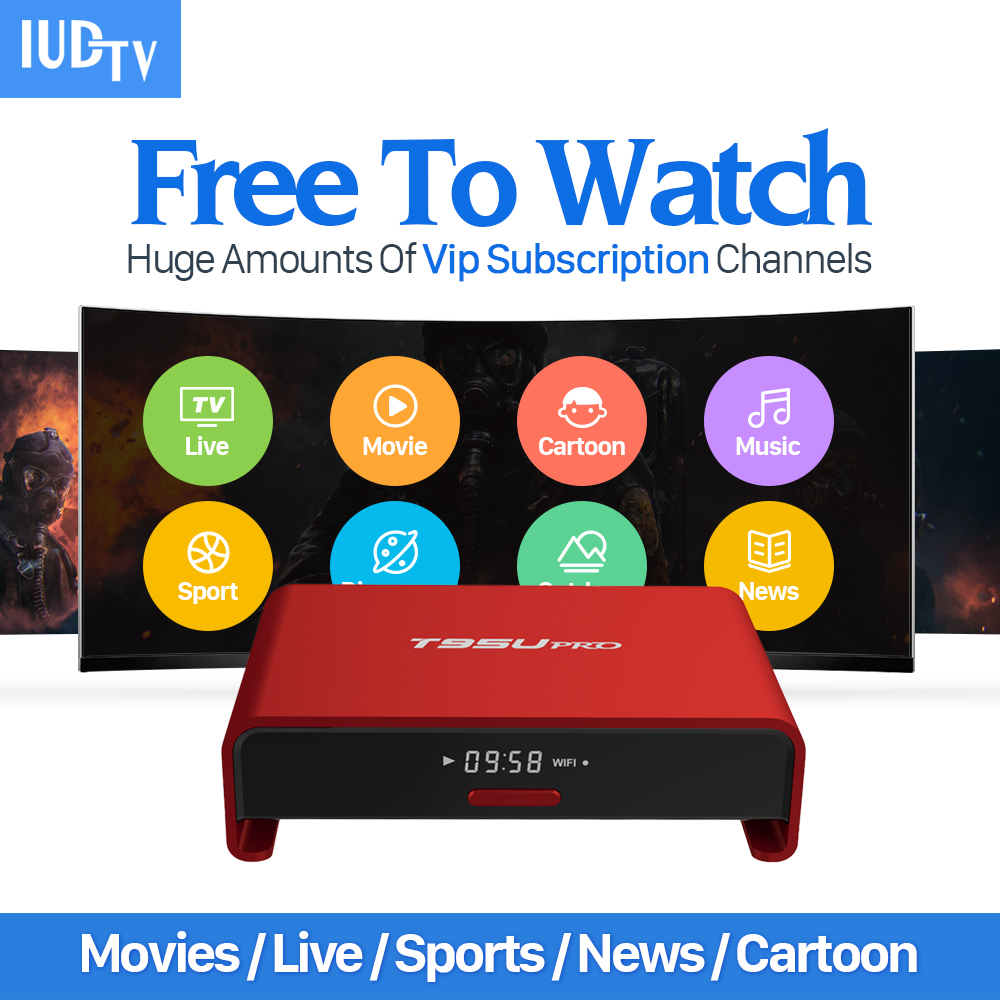Europe IPTV Tv Box Android 6.0 Bluetooth & 1700+ Arabic French Turkish Netherlands IPTV Channels Strong WIFI 2GB/16G TV Player iptv streaming box leadcool android wifi 1g 8g include 1700 italy portugal french receiver europe arabic channels package