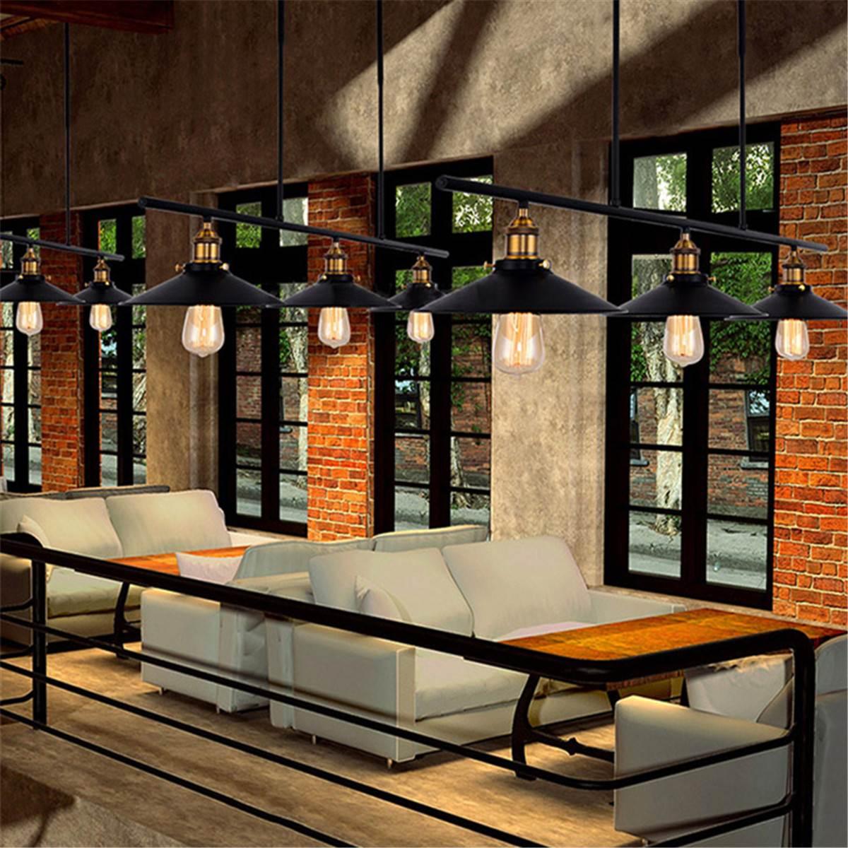 Amerikanischen Stil Vintage Loft DIY Decke Licht Schwarz Eisen Industrielle Decke Lampe 3 * E27 Birne Esszimmer Einstellbar Decor lampe