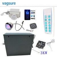 חדש bluetooth MP3 & USB לוח בקרת מסך מגע 3KW גנרטור אמבט מקלחת סאונה אדי חדר אמבטיה