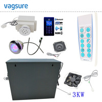 110V 220V 1PH Input Voltage Bathroom Steam Sauna Generator With Bluetooth And MP3 USB Touch Screen