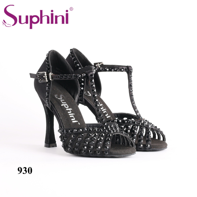 Free Shipping Suphini Custom latest design Latin Dance Shoes Ladies High  Heel Latin Salsa Dance Shoes f09bf0d8d23e