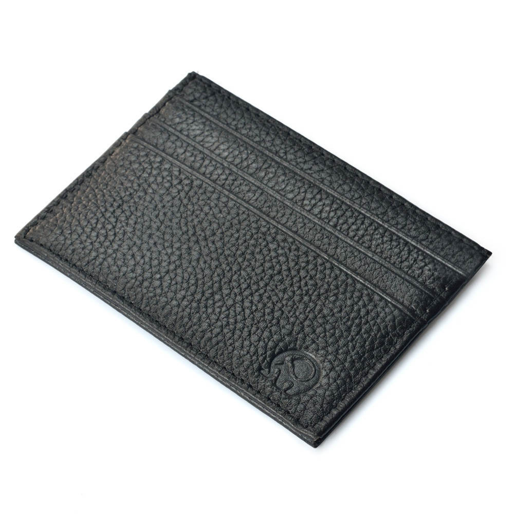 Black Slim Credit Card Holder Men's Wallet Slim Credit Card Holder Mini Wallet ID Case Wallet Bag Black Portefeuille Homme
