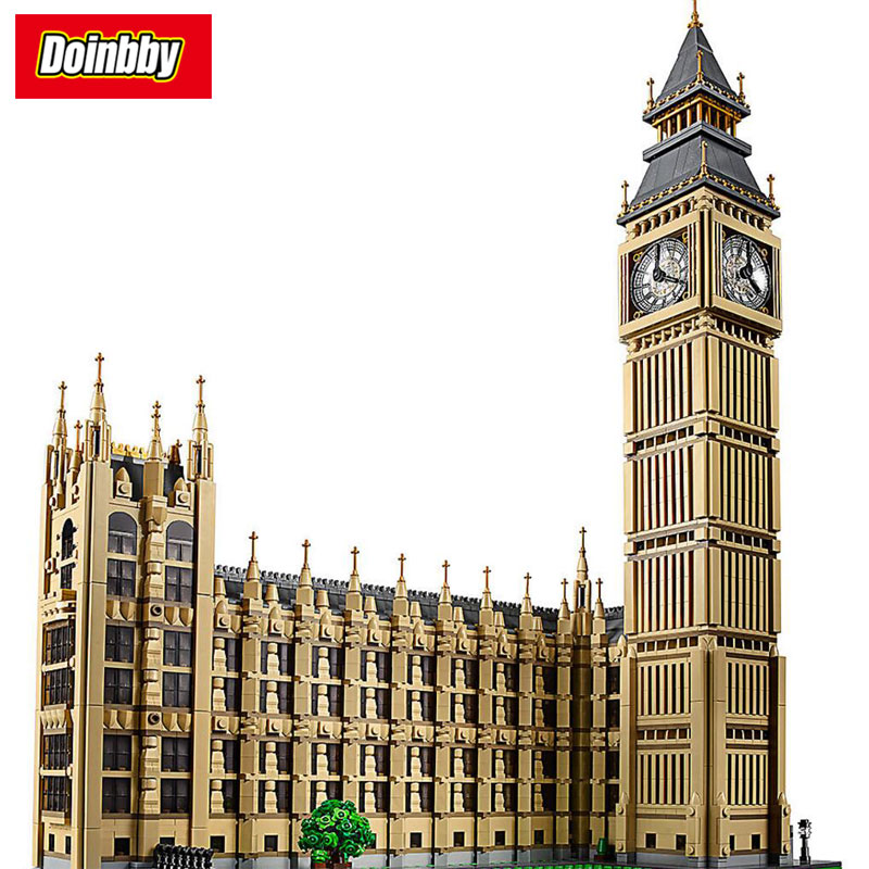 Lepin 17005 City Street Big Ben Elizabeth Tower City Series Model Building Block Bricks Toys Children Gifts Compatible 10253 a toy a dream lepin 15008 2462pcs city street creator green grocer model building kits blocks bricks compatible 10185