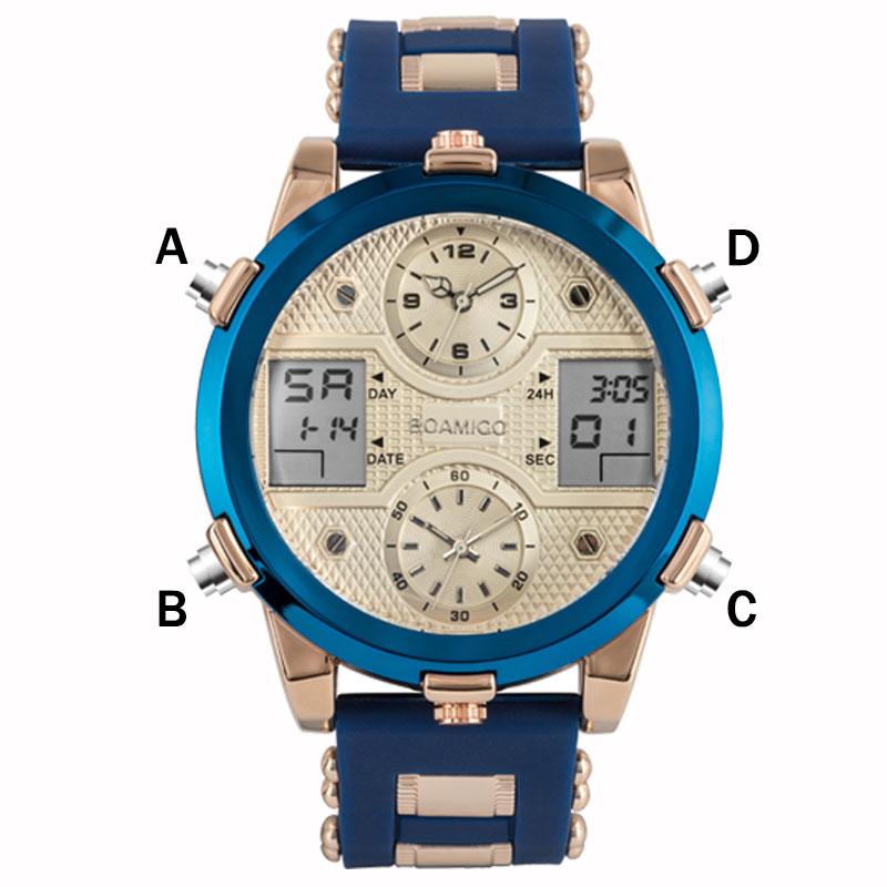 HTB1w2nTdf1G3KVjSZFkq6yK4XXaf BOAMIGO Mens Watches Top Luxury Brand Men Sports Watches Men's Quartz LED Digital 3 Clock man Male Wrist Watch relogio masculino