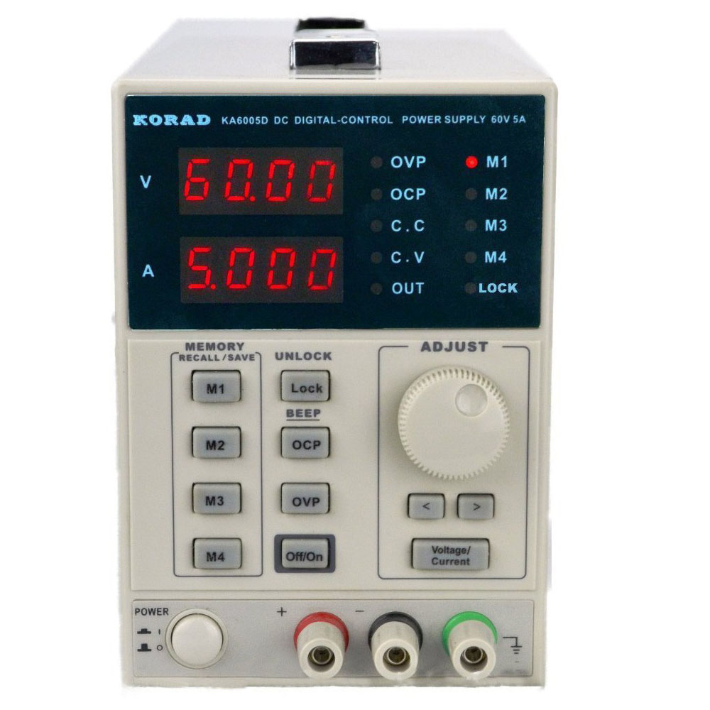 KORAD KA6005D Precision Variable Adjustable 60V, 5A DC Linear Power Supply Digital Regulated Lab Grade