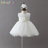 babzapleume 2PCS/Newborn Summer Baby Girls Clothes Princess First Birthday Outfit Christening Gown Dress Wedding Dresses BC1738
