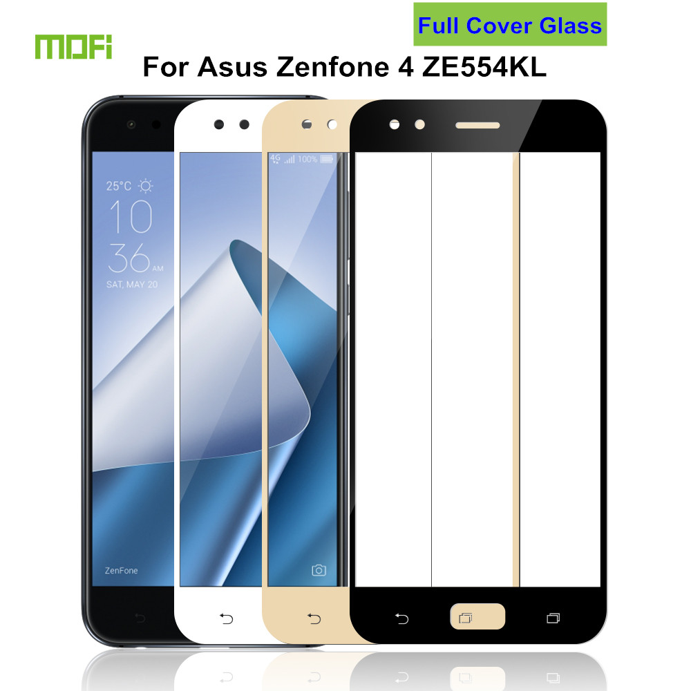 For Asus Zenfone 4 ZE554KL Glass Tempered 5.5 MOFi Full Cover Protective Film Screen Protector for Asus ZE554KL Tempered Glass