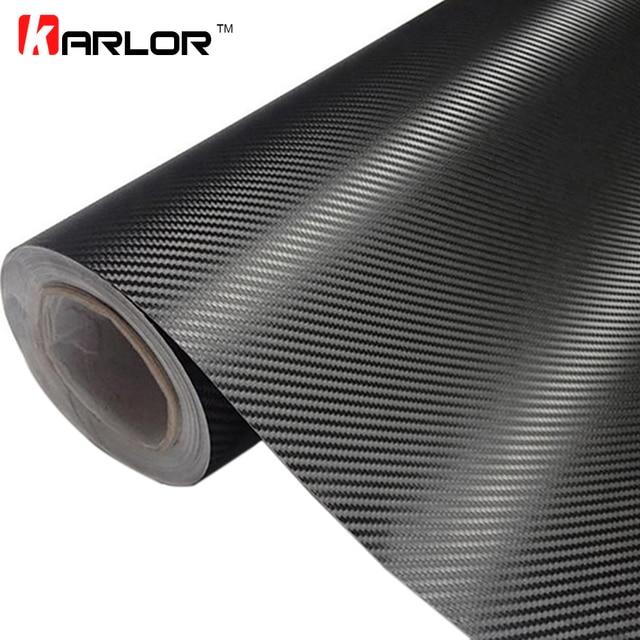 30 cm x 127 cm 3D Fibra De Carbono Vinyl Car Enrole Rolo Folha de Filme adesivos de Carro e Decalques Do Carro Motocicleta Styling Acessórios Para Automóveis