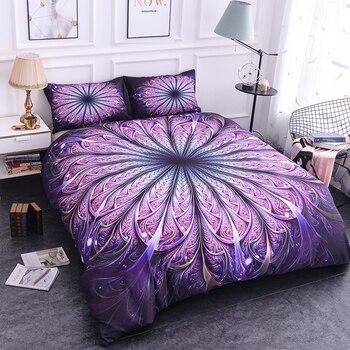 ZEIMON pościel mandala zestaw królowej miękkie skośnym artystyczny nadruk zestaw poszewek z poszewki na poduszki 2/3 sztuk pościel tekstylia domowe