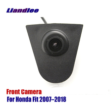 цена на Liandlee AUTO CAM Car Front View Camera For Honda Fit 2007-2018 2010 2012 2015 Logo Embedded ( Not Reverse Rear Parking Camera )