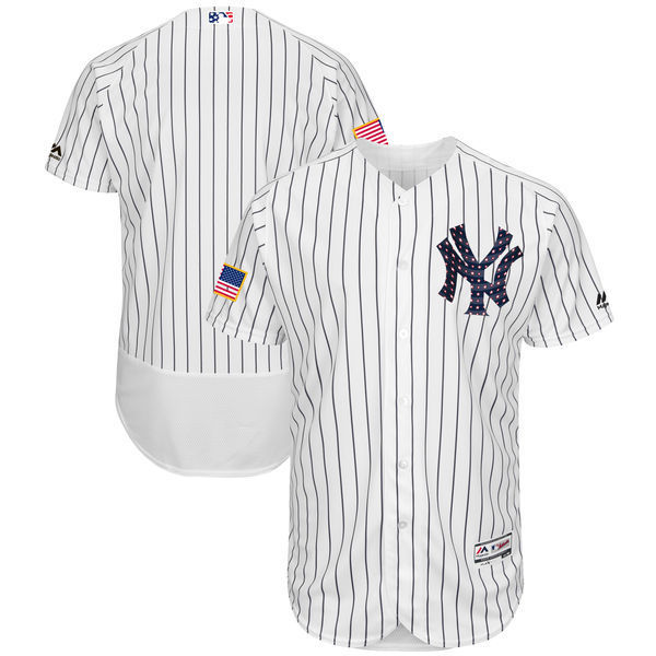 MLB Men s New York Yankees Baseball White 2018 Stars   Stripes Authentic  Collection Flex Base Team Jersey 82970606dbb