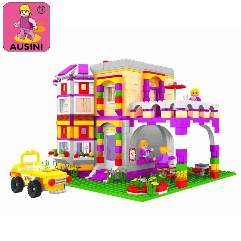 AUSINI 2017 New 24903 building block set girl friend's series 140 3D Construction Brick Educational Hobbies Toys Free Shipping|girl friend|building blocks set|block set - title=