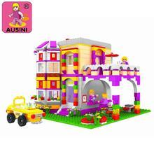 Ausini 24903 building block set serie de la muchacha amigo 140 pasatiempos educativo 3d de construcción de ladrillo juguetes compatible con leping