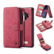 ФОТО wallet case for samsung galaxy s9 plus case for samsung s9 leather case caseme magnet back cover leather zipper bag multi slots
