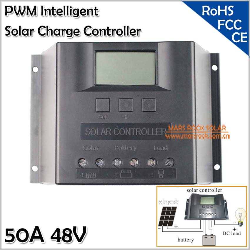 50A 48V Solar Charge Controller, Solar System Controller with LED Dispaly, Solar Controller 50A 48V, PWM Solar Regulator 50A 48V misol solar regulator 50a 48v solar charge controller pwm for solar panel battery charging