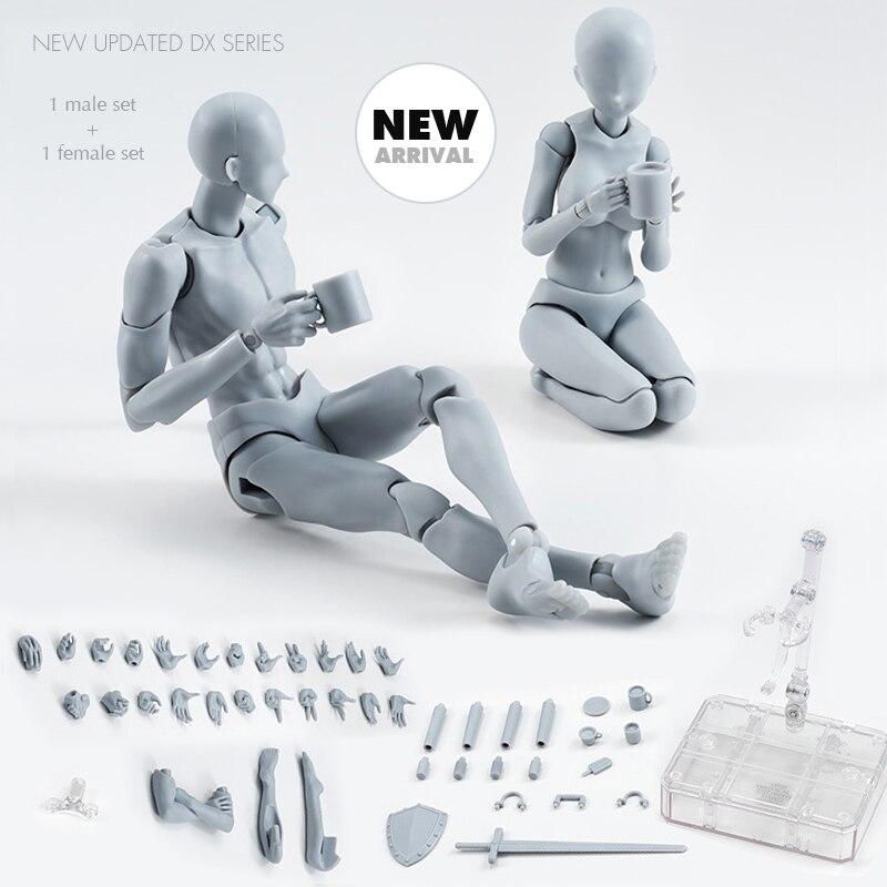 Pandadomik corpo figura de ação 2 conjunto referência bonecas para desenho pvc anime modelos figuras de brinquedo ação presente brinquedo meninas meninos