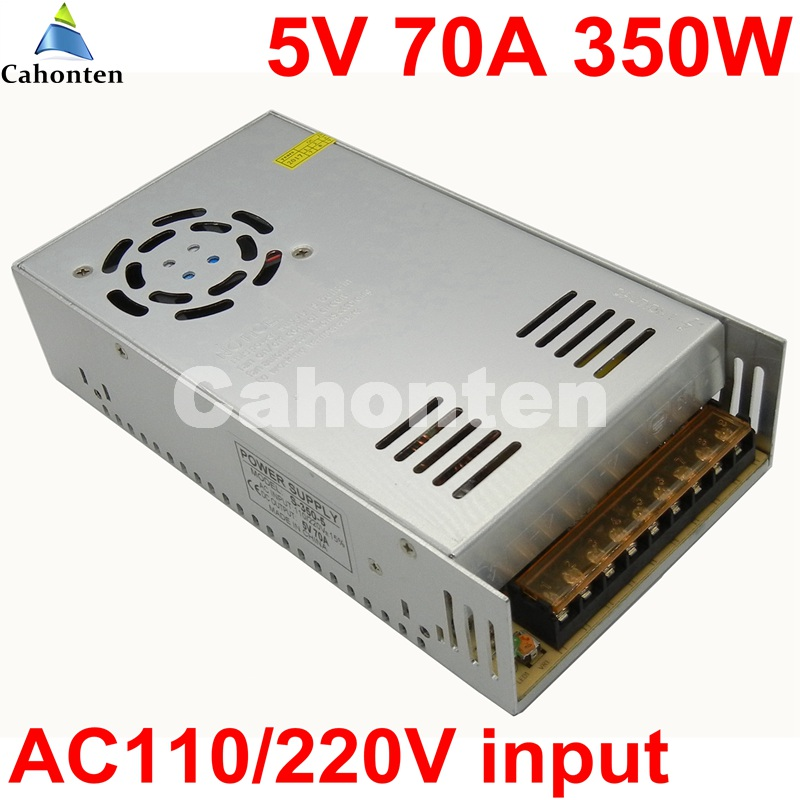 350W DC 5V 70A Power Supply AC110/220V to DC5V Switch Power Adapter Built-in cooling DC fan For LED Light Strip display Screen ac 85v 265v to 20 38v 600ma power supply driver adapter for led light lamp
