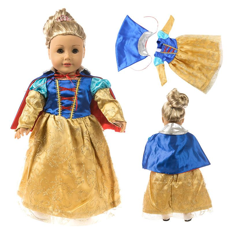 Fleta Princess Dress Doll Clothes Outfit  for 18 inch American or 43cm Baby Christmas Gift