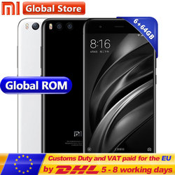 Original Xiaomi Mi6 Mi 6 6GB 64GB Mobile Phone Android 7.1 Snapdragon S835 Octa Core 5.15 Inch 1920x1080 Dual 12.0MP 3350mAh