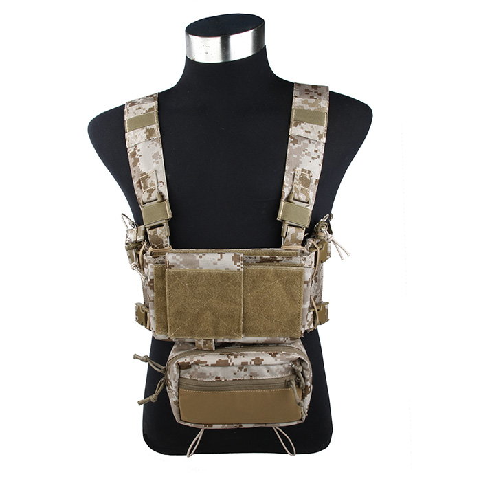 TMC Low Profile Light Tactical Fight Combat Micro Chest Rig Complete Set Summer Tactical Gear AOR1
