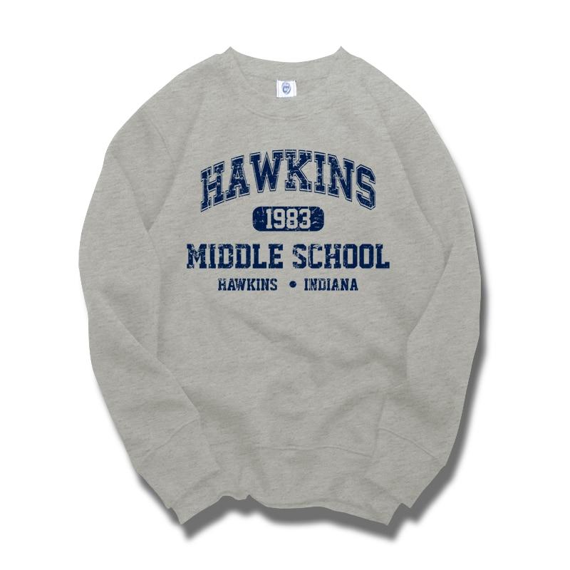 अजीब बातें हॉकिन्स मिडिल स्कूल इलेवन स्वेटशर्ट्स मोटी स्वेटर वाले गर्म कपड़े शीर्ष पुरुष सर्दियों की शरद ऋतु