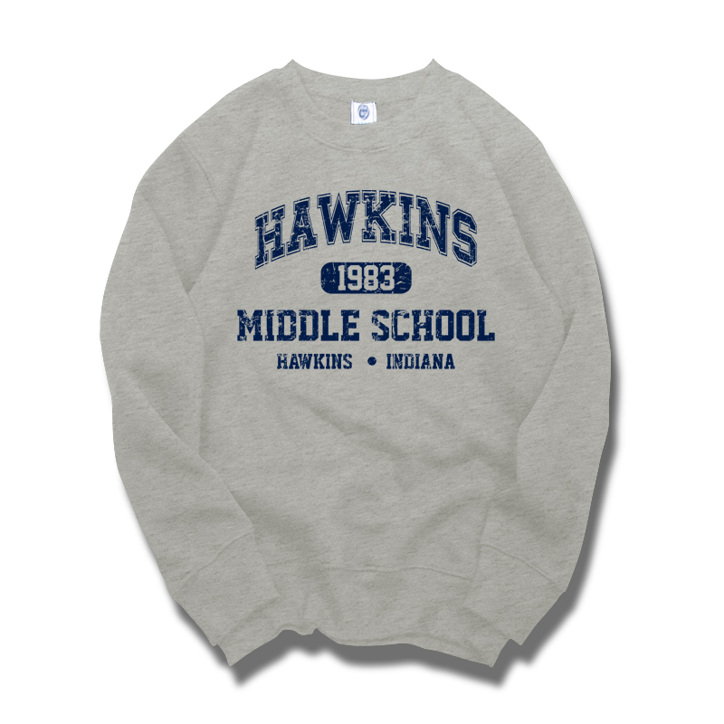 Stranger Things Hawkins middle school Once sudaderas engrosan jerseys ropa abrigada top hombres invierno otoño