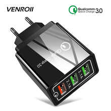 Venroii 3 USB Mobile Phone Charger Adapt