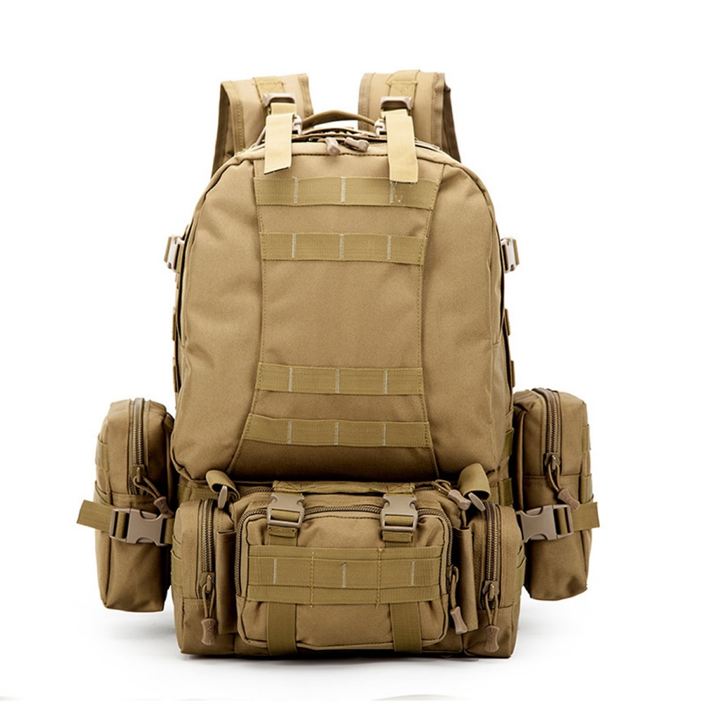 Outdoor backpack sport bags large quantity Camouflage army military hiking camping climbing bag backpacks 2018 new 2017 hot sale men 50l military army bag men backpack high quality waterproof nylon laptop backpacks camouflage bags freeshipping
