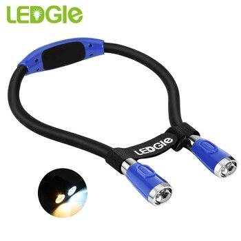 Terkagum-kagum Baru USB Pengisian LED Camping Malam Lampu Senter Fleksibel Handsfree LED Neck Light Hug Light Buku Membaca Lampu Luz