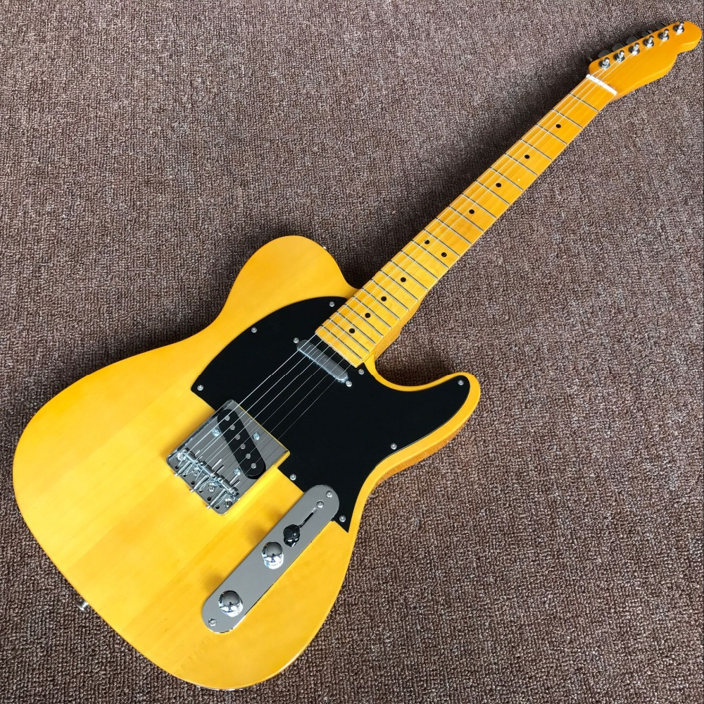 Best Custom Shop NEW High Quality yellow tele guitar Ameican standard telecaster electric Guitar stock TELE