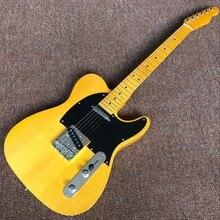 Лучший Custom Shop Новинка! Высокое качество желтый tele гитары американский стандарт telecaster электрогитары наличии TELE электрогитары