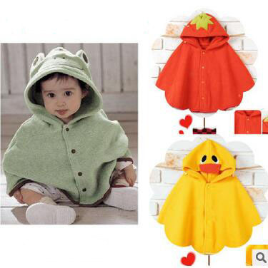Abrigos bebé de la manera muchacha de los muchachos suéteres cardigans niños ropa Poncho impermeable de Los Niños ropa de marca Chaquetas de Bebé 0-2 años