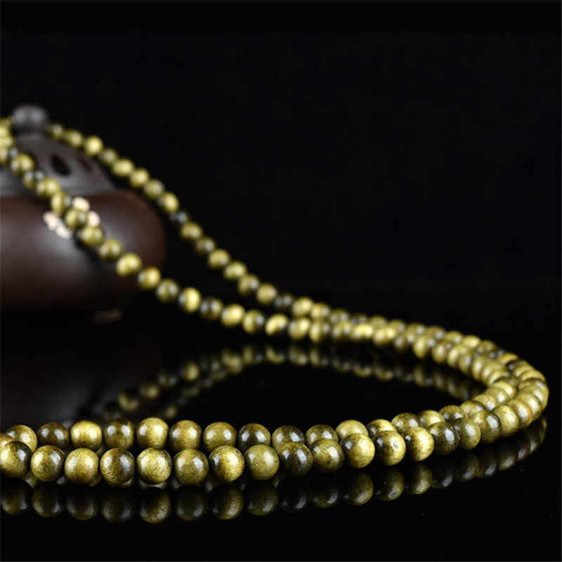 New 108 Beads Sandalwood Rosary Bracelets Women Jewelry Prayer pulsera hombre High Quality Natural Wood Beaded Bracelet For Men