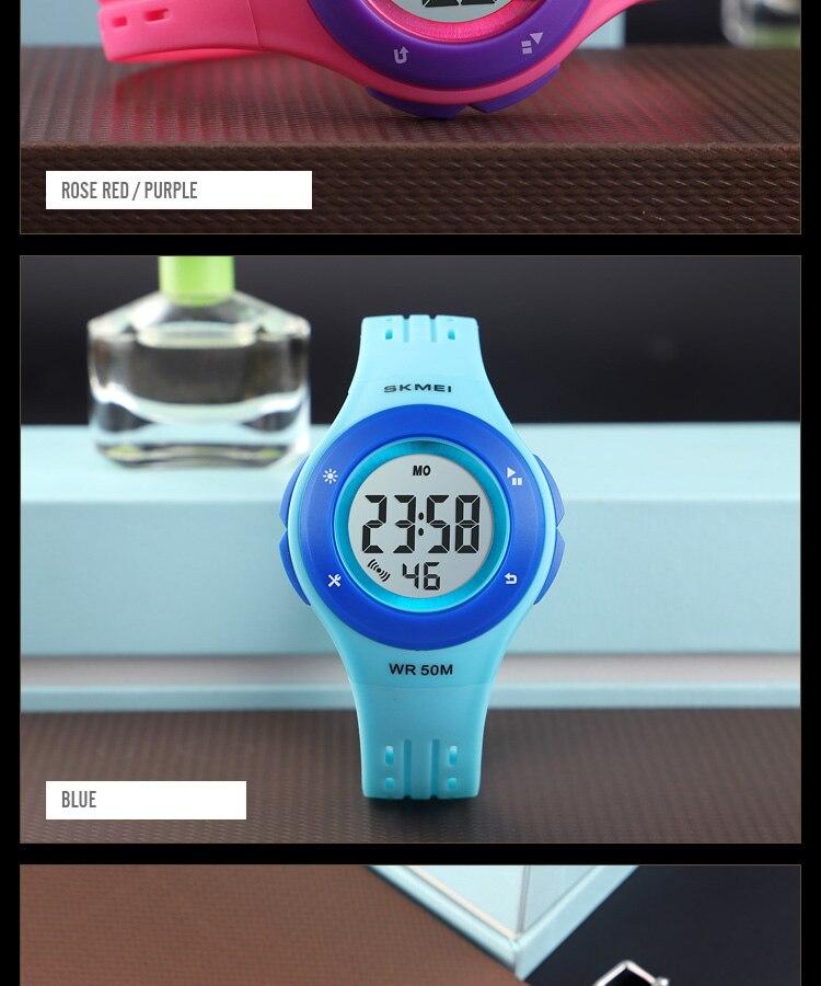 SKMEI Fashion Men Quartz Watch Children Digital Watch Big Dial Waterproof Parent-child Watches relogio masculino 9185 1455 Set 26