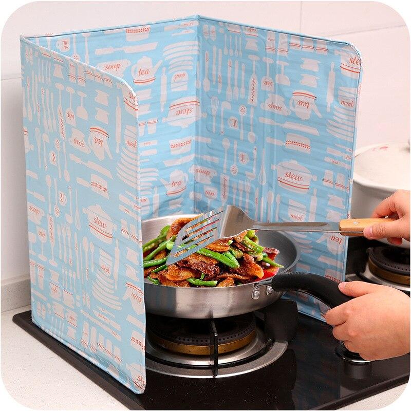 Oil Splash Baffle Kitchen Frying Pan Cooking Oil Splash Kitchen Grease Anti  Oil Splatter Shield Guard In Splatter Screens From Home U0026 Garden On ...