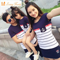Family Look 2017 Summer Family clothing Mother Daughter Dress Family Matching Outfits Cotton Father Son T-shirt and pant