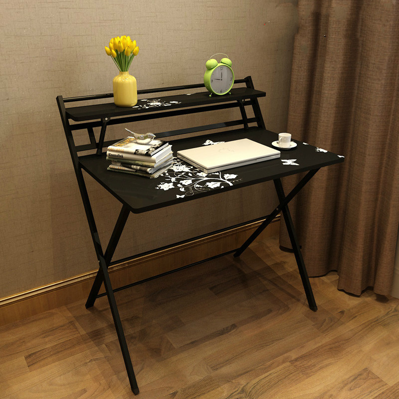 Detail Feedback Questions About Writing Computer Desk Modern Simple Study  Desk Free Installation Style Folding Laptop Table For Home Office Brown  Notebook ...