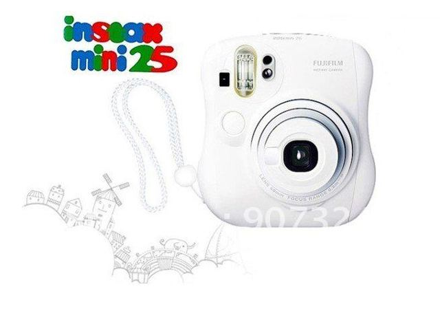 Free Shipping Original Fuji Instax instant mini25 camera(White)+2pack films by EMS
