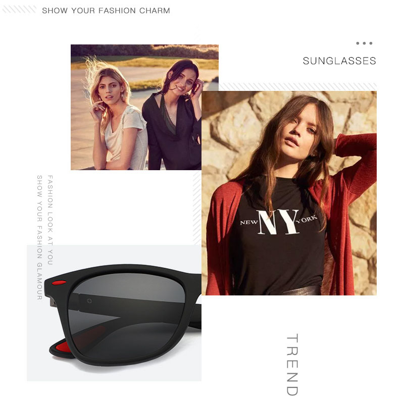Image 4 - Fashion Brand Designer Polarized Sunglasses Men Women Driving Square Frame Sun Glasses Male Goggle Shades Coating Mirror Female-in Driver Goggles from Automobiles & Motorcycles