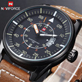2016 New Design Military Style Watch Men's Leather Strap Sports Watches Men Quartz Hour Date Clock Fashion Casual Wrist Watch