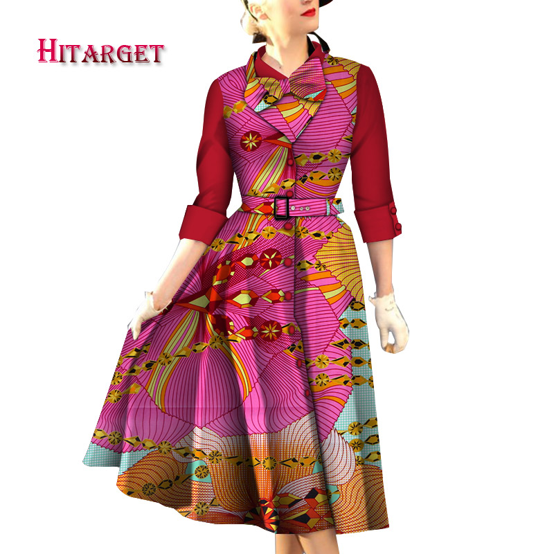 dresses set for women 2 pieces suit top dress customizable dashiki wax print cotton Hitarget africa dresses for women WY4506 in Africa Clothing from Novelty Special Use